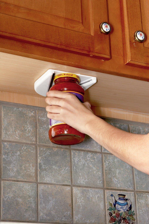 Single Hand Under Cabinet Jar Opener-Easy To Use PE GENERIC 744430691918