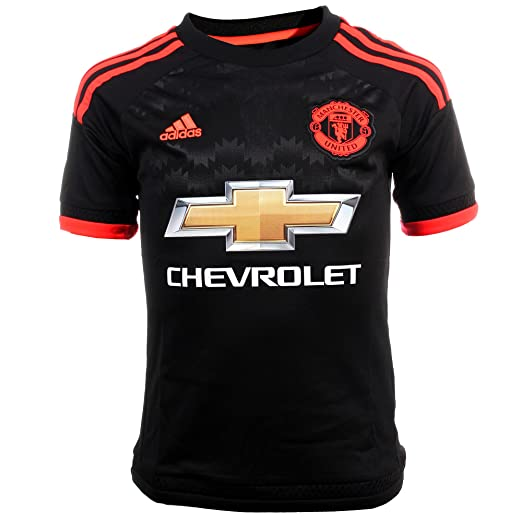 Amazon.com   Adidas Manchester United FC 3rd Youth Jersey-BLACK (S ... 720bfa1eb