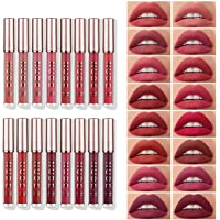 Deals on LANGMANNI 16 Pcs Matte Liquid Lipstick Makeup Set