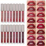 16 Pcs Matte Liquid Lipstick Makeup Set Velvety Liquid Lipstick Long Lasting Durable Nude Lip Gloss Beauty Cosmetics Set for