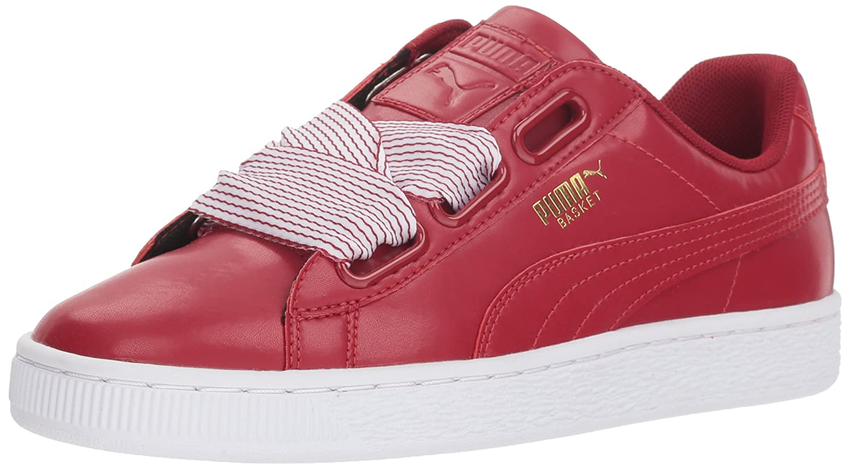 PUMA Women's Basket Heart Wn Sneaker B07525GNF8 9 M US|Red Dahlia-red Dahlia