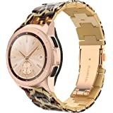 Wearlizer Compatible with Samsung Galaxy Watch Active 2 Band, 20mm Width Lightweight Resin 40mm 42mm 44mm Women Rose Gold Wri