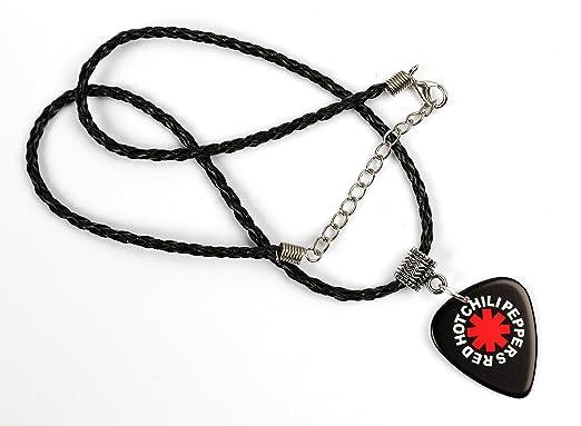 Red Hot Chili Peppers Logo color negro collar de púa de guitarra púa