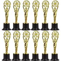 Juvale Mini Award Trofeeën voor filmmakers, Filmbuffs, Hollywood Themapartijen (12-Pack) - Goud, 15,5 centimeter lang