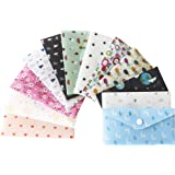 With You Cash Budget Envelopes for Budgeting Cute | 12 Premium Reusable Plastic Cash Envelope System with Snap Button…