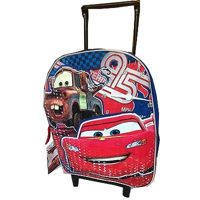 "Disney Pixar Cars 12"" Toddler Rolling Backpack Small"