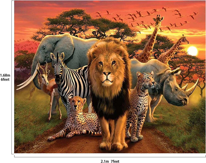 Musykrafties Toile de fond Motif animaux de la jungle