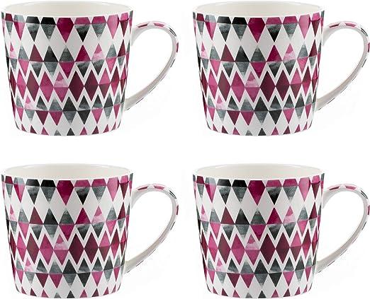 Jameson & Tailor – Juego de 4 Tazas Mugs de porcelana brillante ...