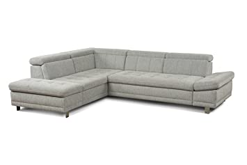 Cavadore Sofa Imit In L Form Ecksofa Mit Ottomane Links Inkl
