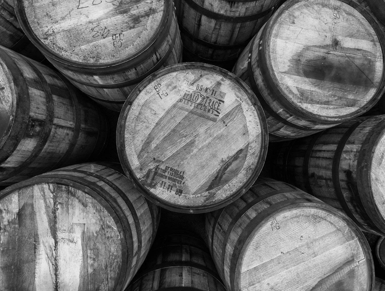 Kentucky Whiskey Art Various Sizes Great for Home and Pub Decor Canvas and Photo Prints Fine Art Print of Bourbon Barrels