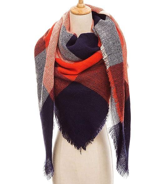 76f3573c38 Women s Winter Warm Large Scarf Fashion Shawl Scarf at Amazon ...