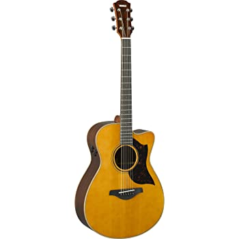yamaha a series ac3r acoustic electric guitar with soft case vintage natural. Black Bedroom Furniture Sets. Home Design Ideas