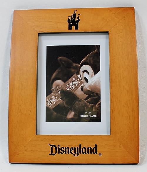 Amazon.com - Disneyland Resort 5 x 7 Wood Photo Frame - Disney Parks ...