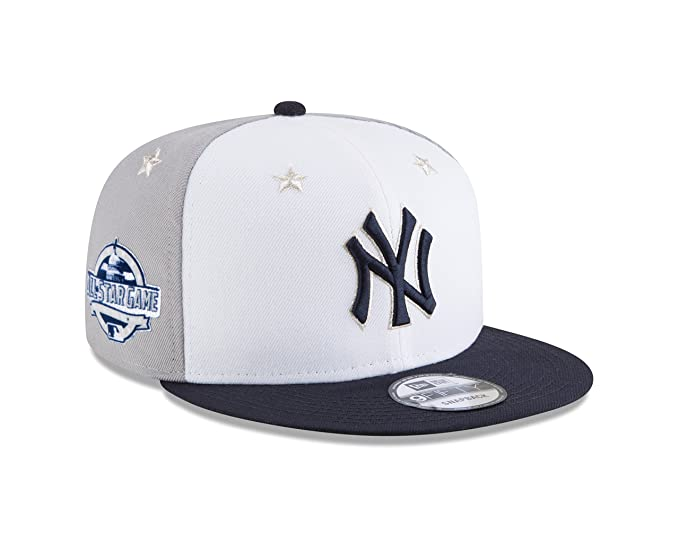 d15f5131b1046 Amazon.com  New Era New York Yankees 2018 MLB All-Star Game 9FIFTY Snapback  Adjustable Hat – White Navy  Clothing