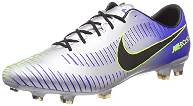 3ab0f922e1a Nike Mens Neymar Mercurial Veloce III FG Soccer Cleats (Racer Blue  Black Chrome