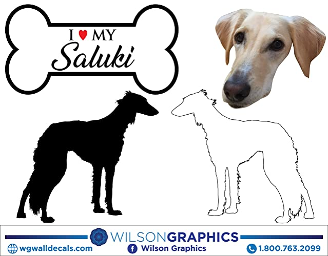 Amazon com: Saluki - Dog Breed Decals (Set of 16) - Sizes in