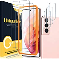 [ 2+3 Pack ] UniqueMe Compatible with Samsung Galaxy S21 5G - 6.2 inch Tempered Glass + Camera Lens Protector Screen…
