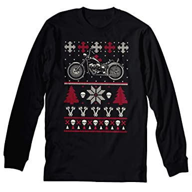 Amazon.com: GearHead Biker Christmas - MOTORCYCLE - Sweater Style ...