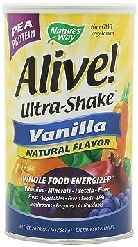 Nature's Way Alive! PEA Protein Shake, Vanilla, 1.2 Pound