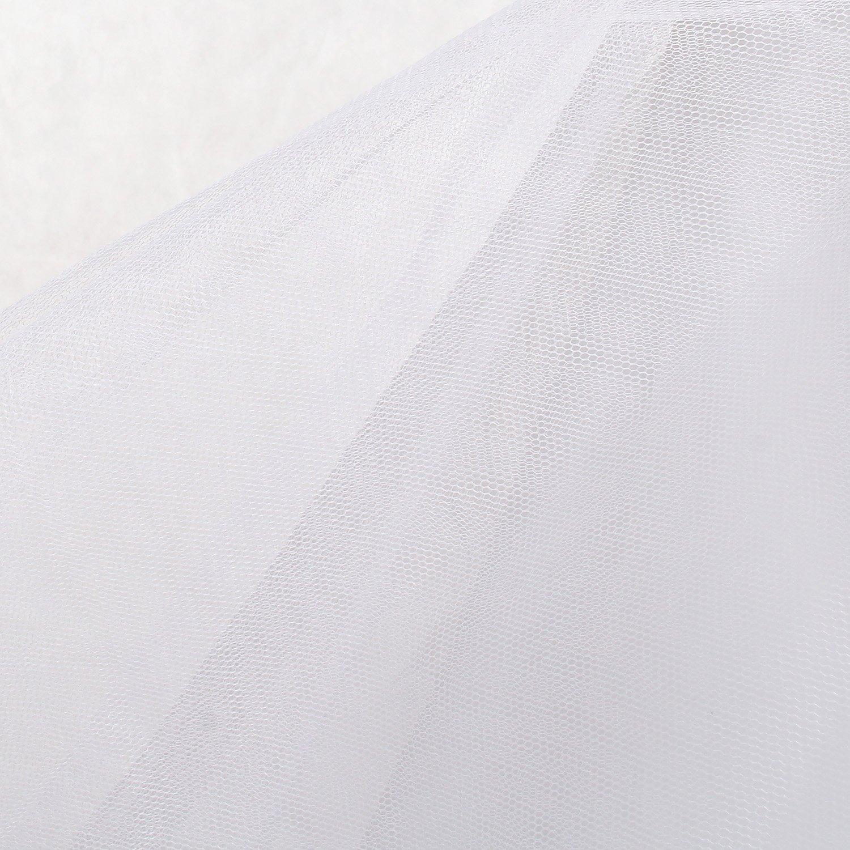 per Vestito Abito da Sposa TUKA Sottogonna con Pizzo Crinolina Sottoveste 1 Cerchio TKB0019 3 Strati Taglia 42 Taglia Unica Adatto per Taglia 32