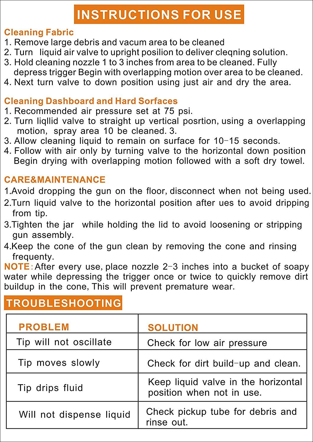 Car Cleaning Gun with 1L Kettle and Brush High Pressure Interior Exterior Washer Gun Nozzle Sprayer Gun Foam Lance by Chemical Guys (Image #7)