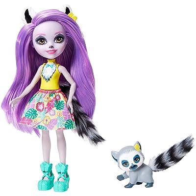 Enchantimals Larissa Lemur & Ringlet Dolls: Toys & Games