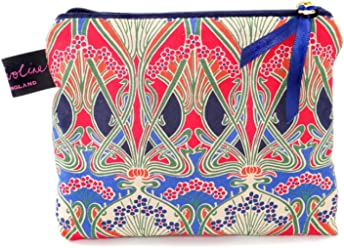 89b3b1acab9c Liberty Fabric Small Flat Purse Cosmetic Make Up Bag Ianthe Design