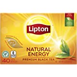 Lipton Premium Black Tea Bags, Hot or Iced Natural Energy, 40 ct Pack of 6