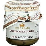 Italian Villa Reale Caperberries in Brine, 6.35 oz (180gm), Pack of 3