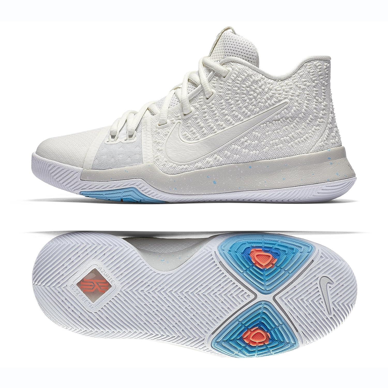 NIKE Boys Kyrie 3 Colorblock Mids Basketball Shoes B072KY6HWB 6 Y Big Kid US|Ivory/Pale Grey