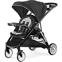 Chicco Chicco BravoFor2 LE Standing/Sitting Double Stroller - Crux, Black, 45.7x23.3x42.8 Inch (Pack of 1)
