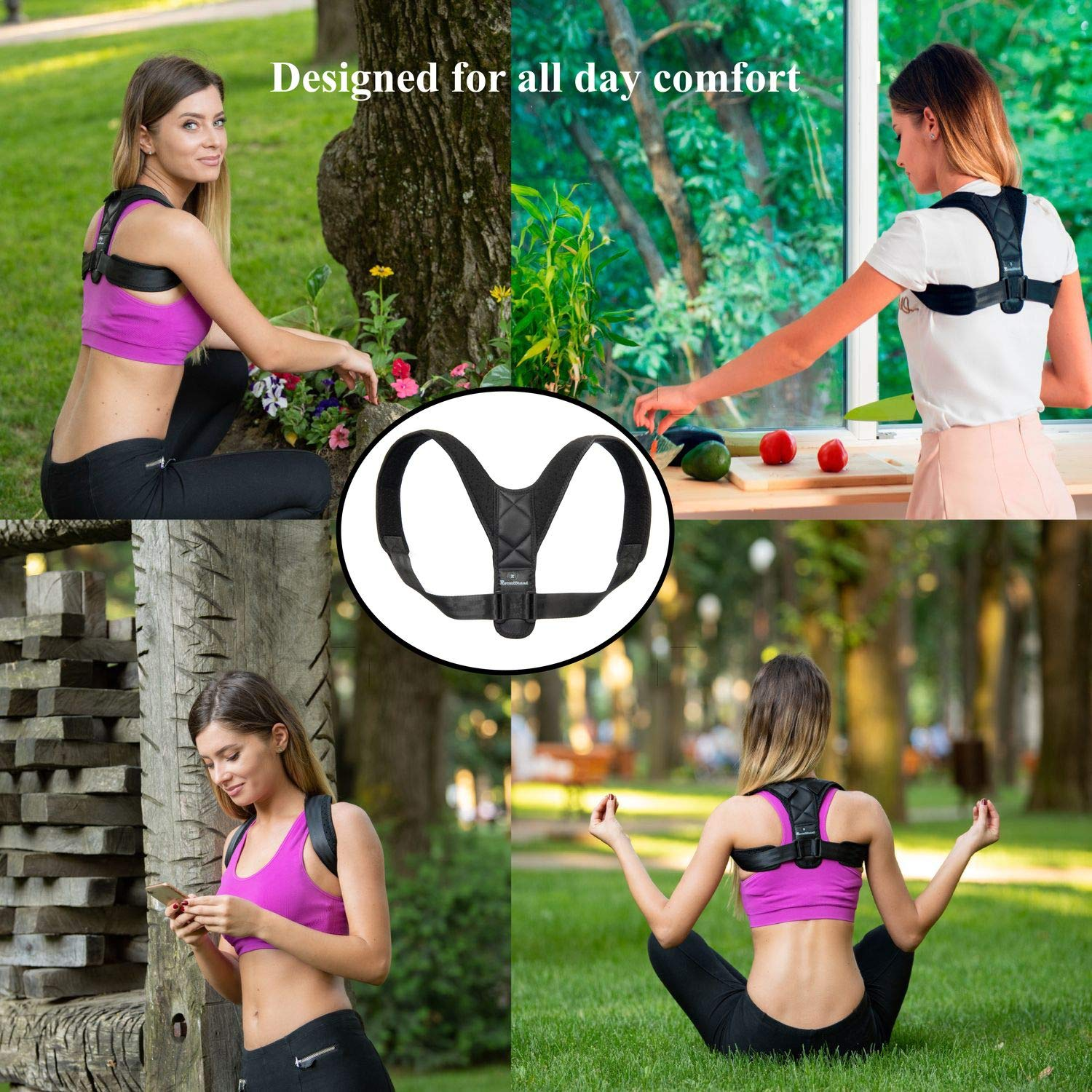 Back Posture Corrector for Women and Men-Breathable and Comfortable Clavicle Brace for Improving Posture-Adjustable and Discreet Clavicle Support Brace for Slouching & Hunching by Roxattract (Image #6)