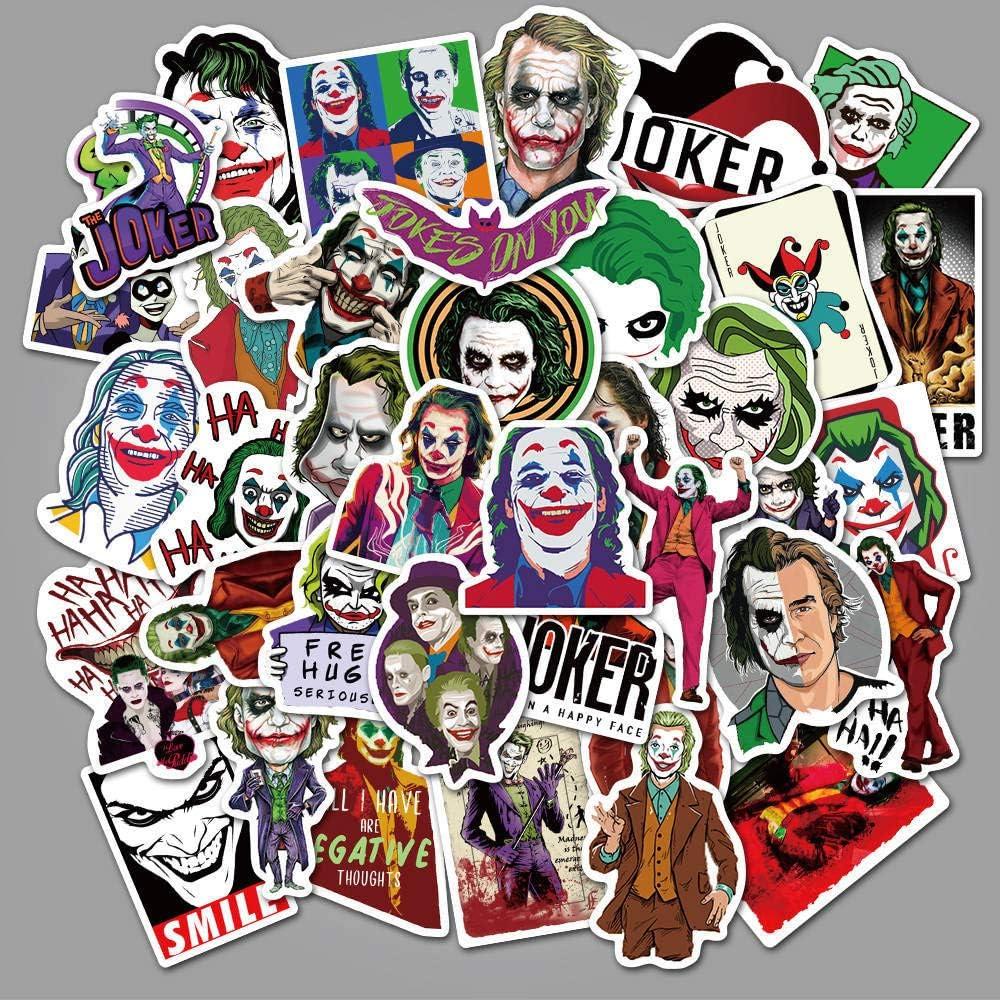 ZAQ 50 Payaso Joker Película Pegatinas Maleta Scooter Casco Cartoon Graffiti Pegatinas