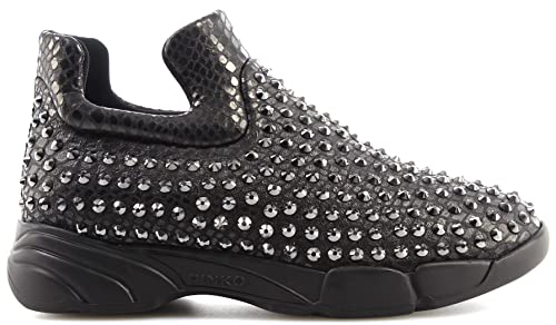 Pinko Scarpe Donna Sneakers Slip On Gem 7 Z99 Black Shine Baby Shine  Borchie New 2f7a03faec9