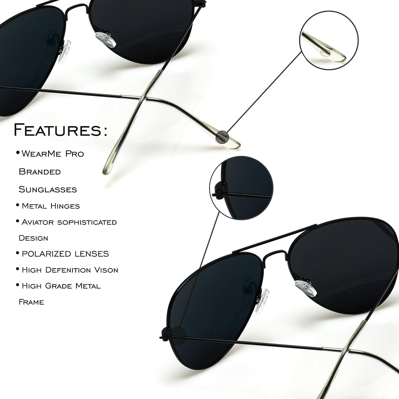 f15288de22b Amazon.com  WearMe Pro - Premium Classic Fashion Design Polarized Lens Aviator  Sunglasses  Clothing