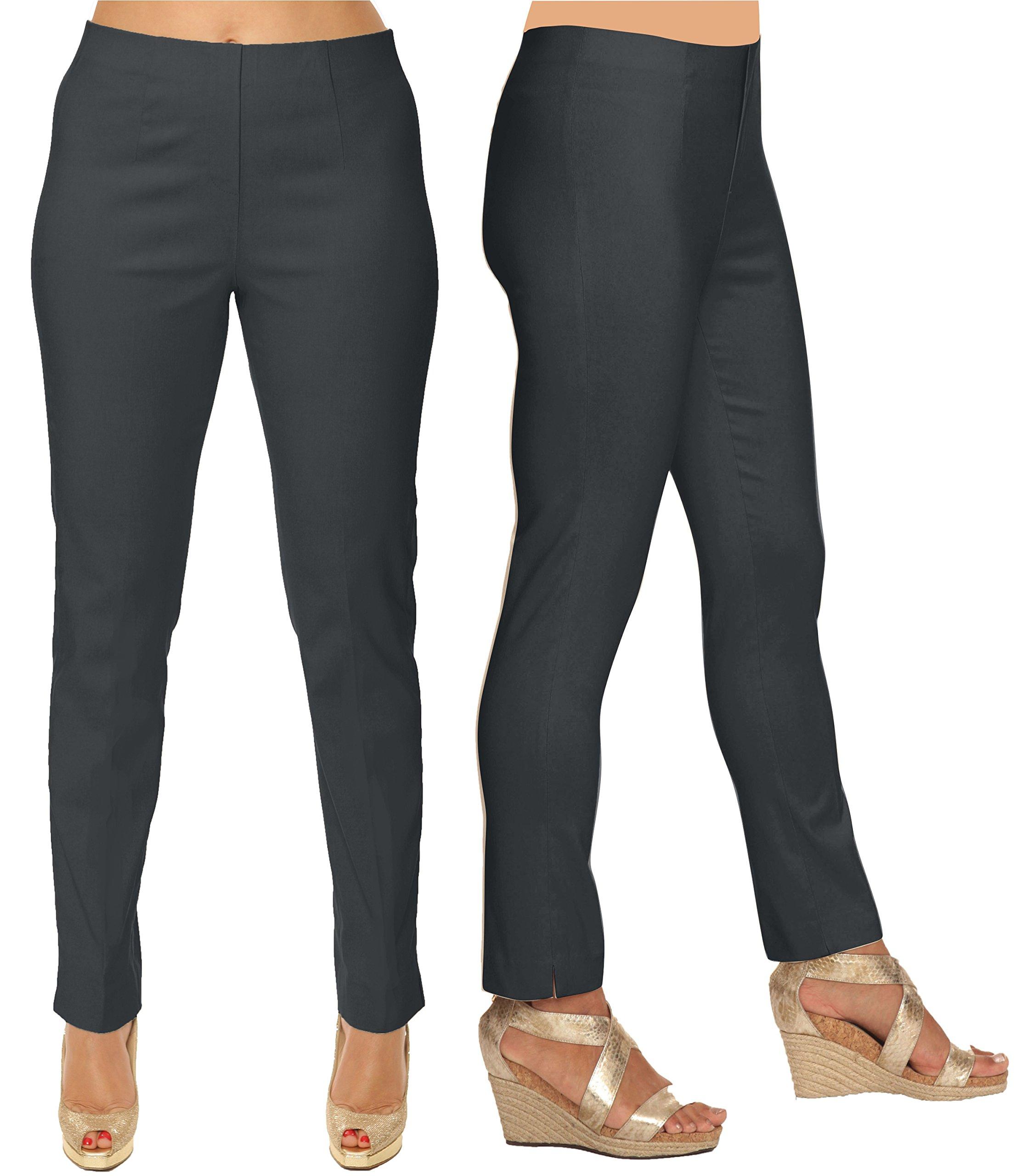 Lior Paris SASHA Essential Slim Fit Ankle Pant (16, Charcoal)