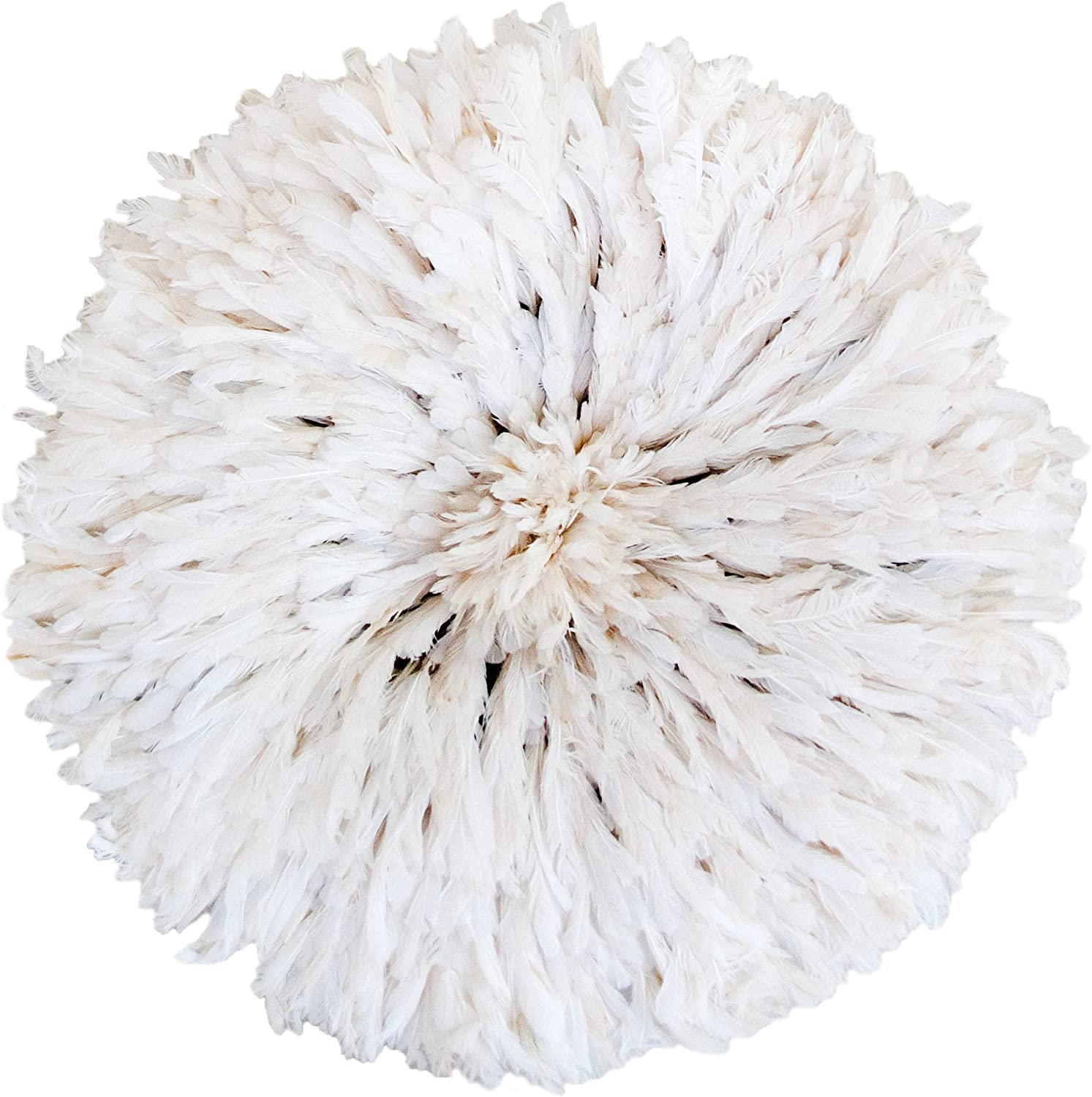 Zeal Living Authentic African Juju Hat - White