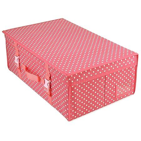c19a77504391 HANGERWORLD Medium Pink Polka Dot Wedding Dress Bridal Gown Storage pH  Neutral Travel Box with Acid Free Tissue