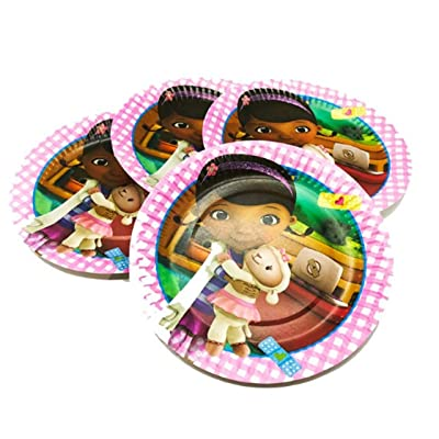 Doc McStuffins Birthday Party Plates - 20 Pieces: Toys & Games