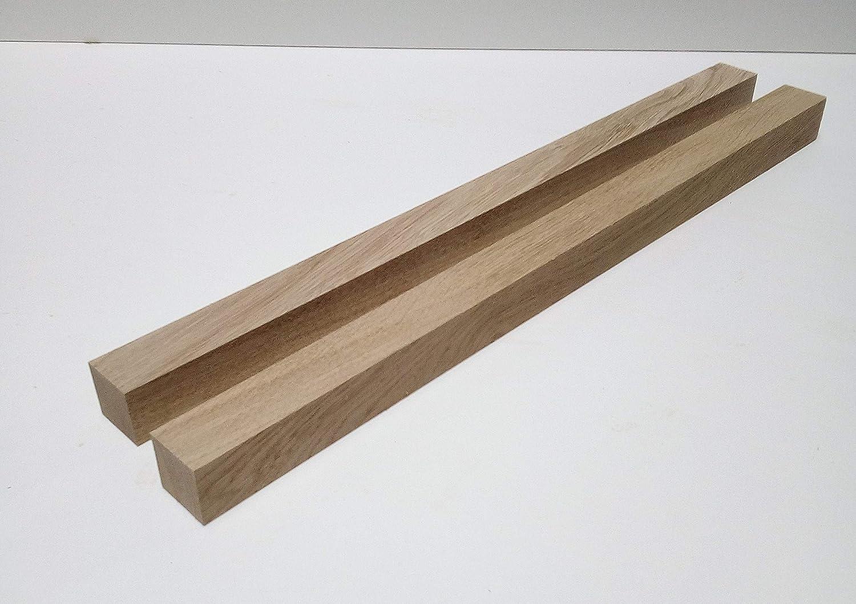 Kantholz Leisten drechseln bastel Holz 3x3x45cm lang Sonderma/ße. 2 St/ück Tischf/ü/ße Kanth/ölzer 3x3cm stark Eiche massiv