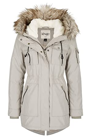 best website cab6e 60f12 Khujo Damen Parka Fira, ice grau (L): Amazon.de: Bekleidung