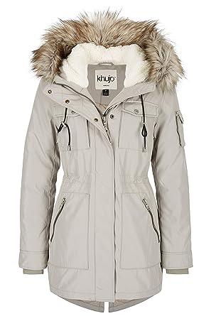 Parka in grau für Damen Khujo Geniue Händler Günstig Kaufen Echt Wahl Verkauf Finish HS8aiZC