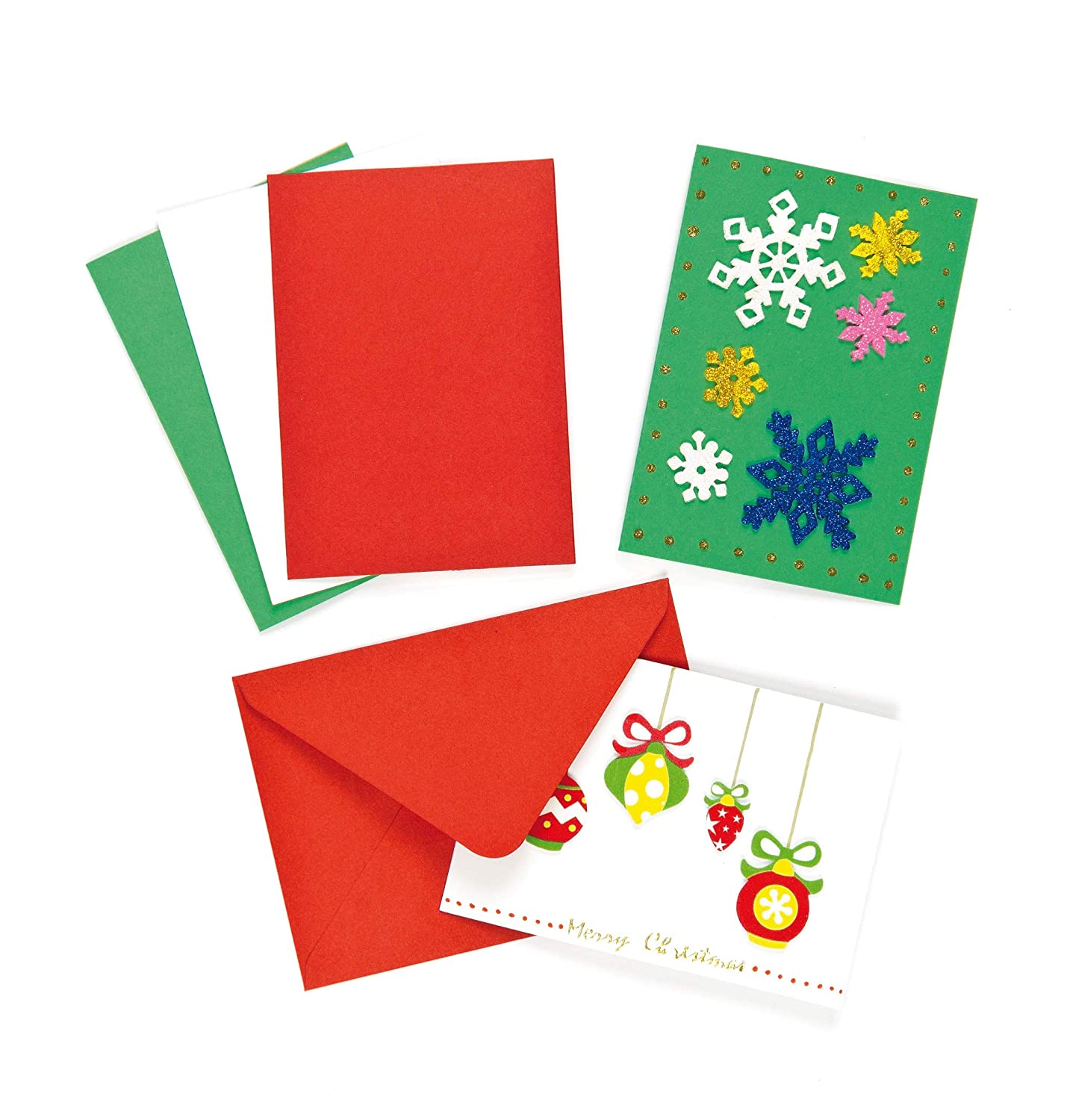 6 Make Your Own Kids Christmas Cards Kit Xmas PUDDINGS Card Craft Blank Decorate