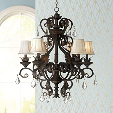 Kathy Ireland Ramas de Luces Bronze 30 Wide Chandelier