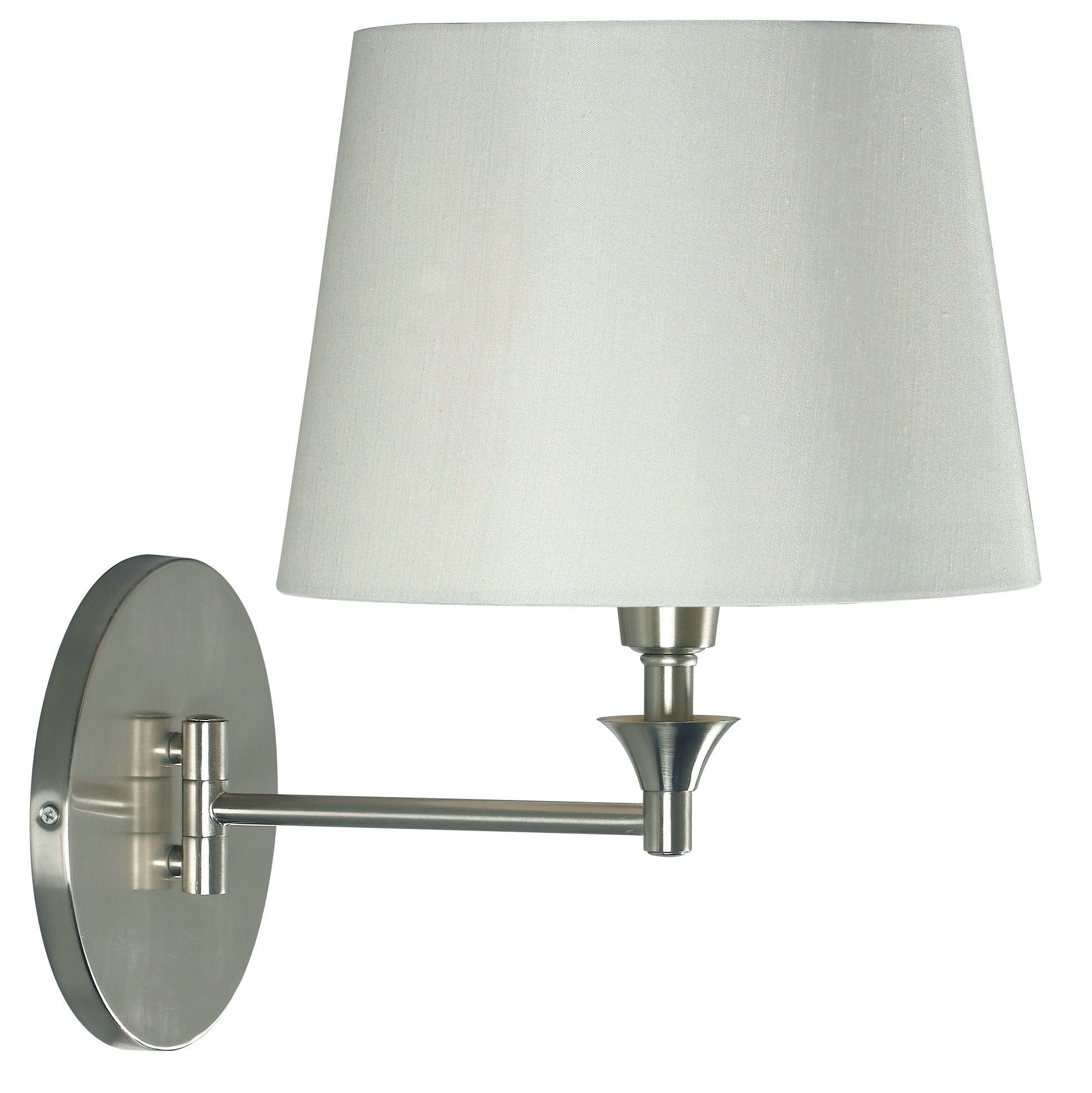 Kenroy Home 32180BS Martin Wall Swing Arm Lamp, 18'' x 13'' x 13'', Brushed Steel