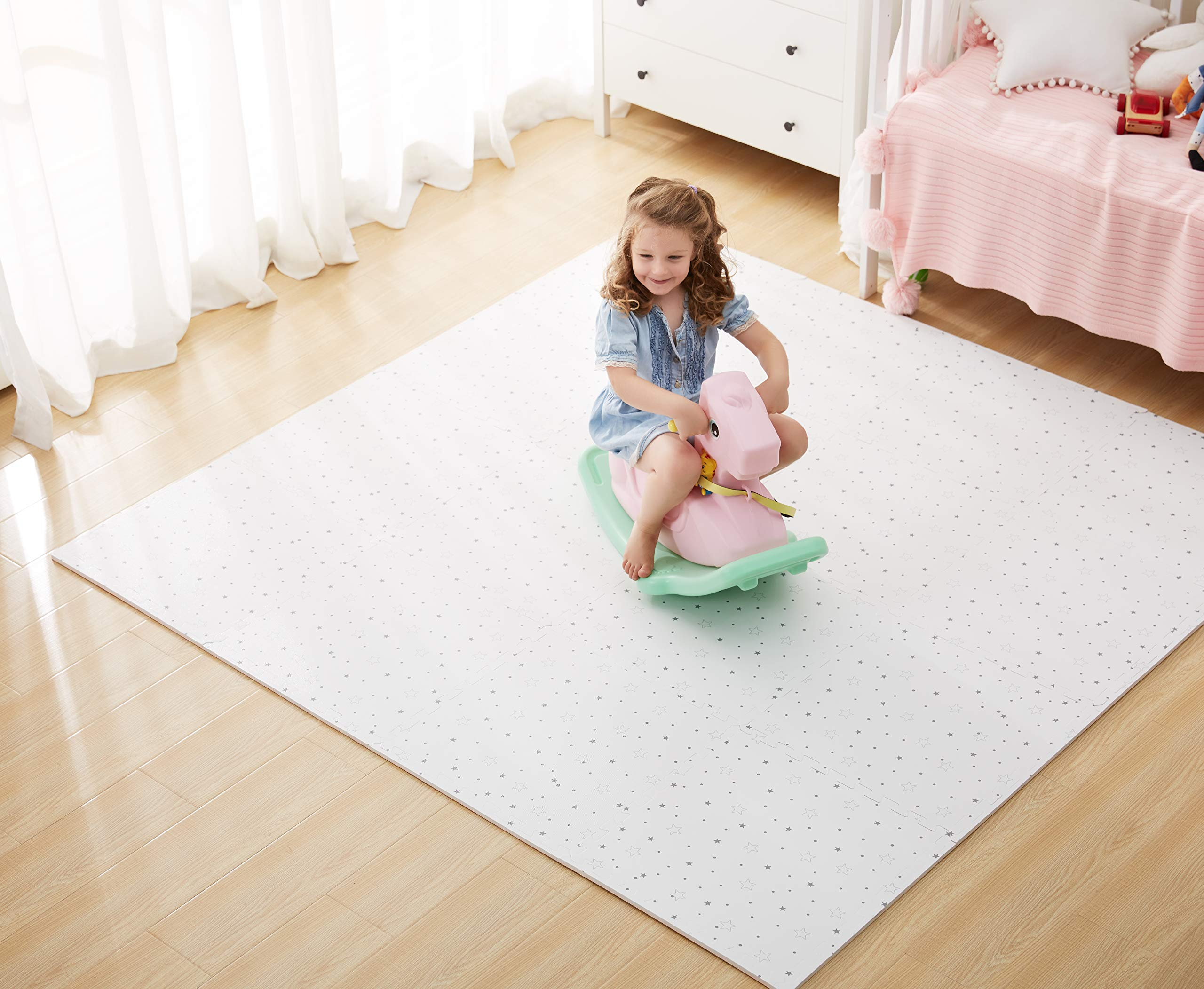 FORSTART Baby Play Mat,¡¾12 Pieces¡¿Non-Toxic Foam Play Mat for Infants, Extra Large (60 x 80 in) Thick (0.8 in) Playmats Floor Puzzle Tiles Soft Crawling Mat for Toddlers, Stylish & Pet-Friendly by FORSTART