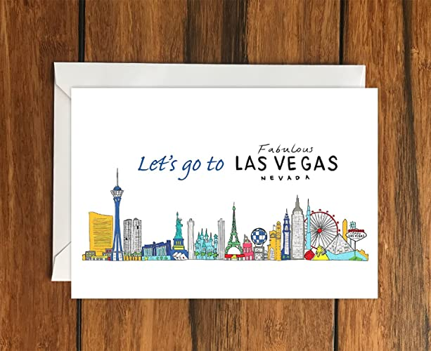 Lets go to las vegas greeting card a6 amazon handmade lets go to las vegas greeting card a6 m4hsunfo