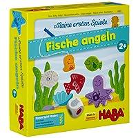 Haba 4983 - Meine ersten Spiele Fische angeln, spannendes Angelspiel mit bunten Holzfiguren, Lernspiel und Holzspielzeug ab 2 Jahren, Motorikspielzeug