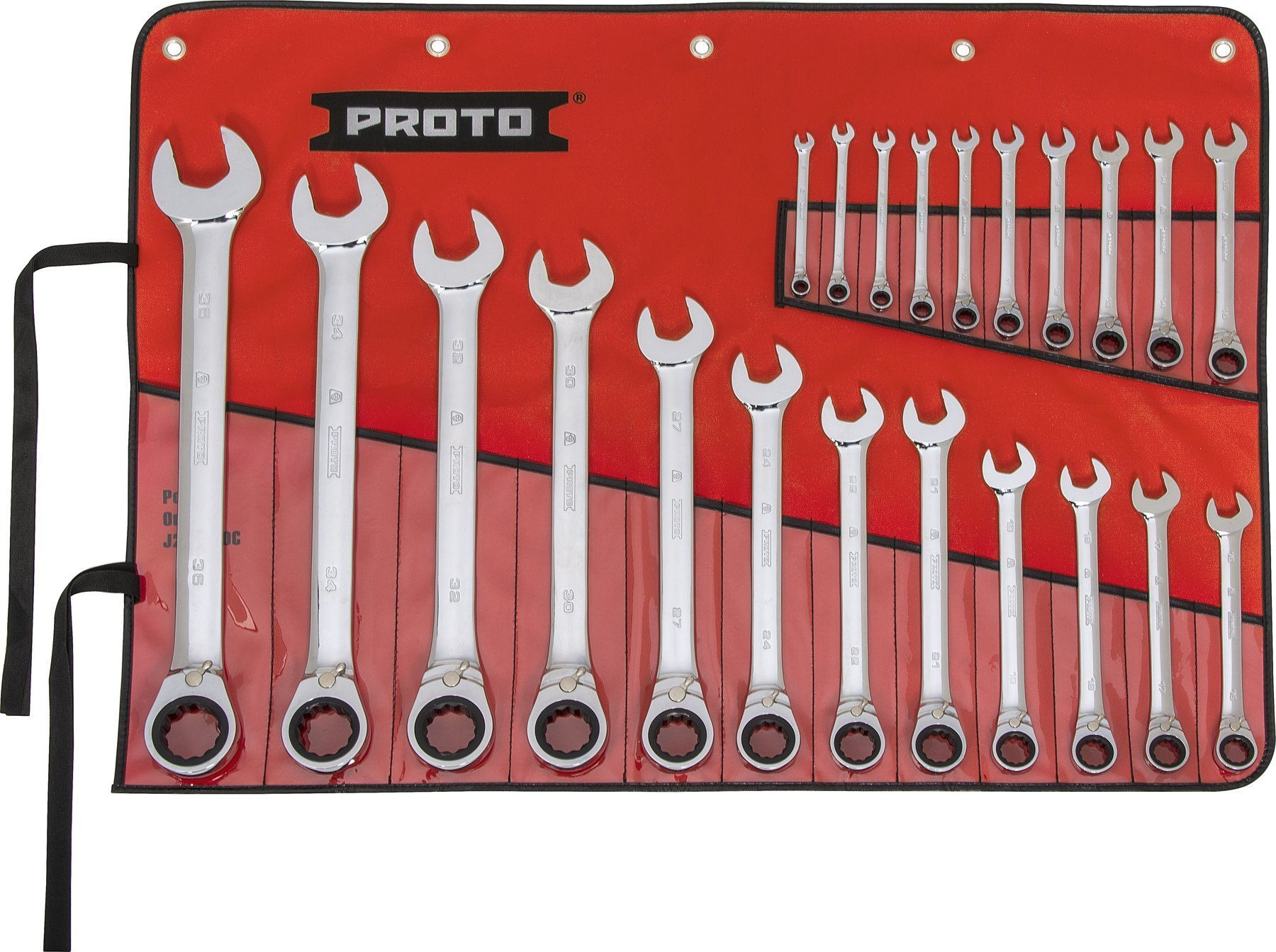 Silver 7-piece Stanley 1-17-375 Combination spanner-Set with ratchet