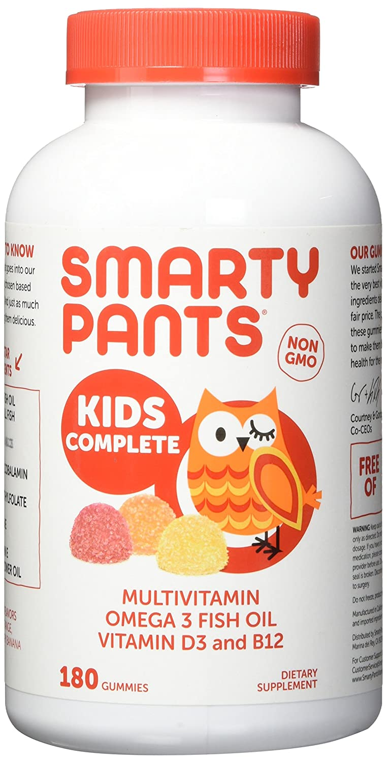 Smarty Pants Kids Complete Multi-Vitamin, 180 Gummies 1